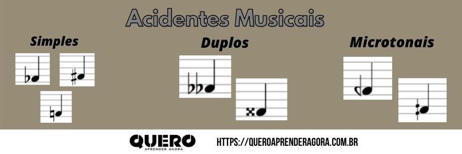 Acidentes Musicais Simples, Duplos e Microtonais