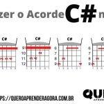 Acorde C# Violão